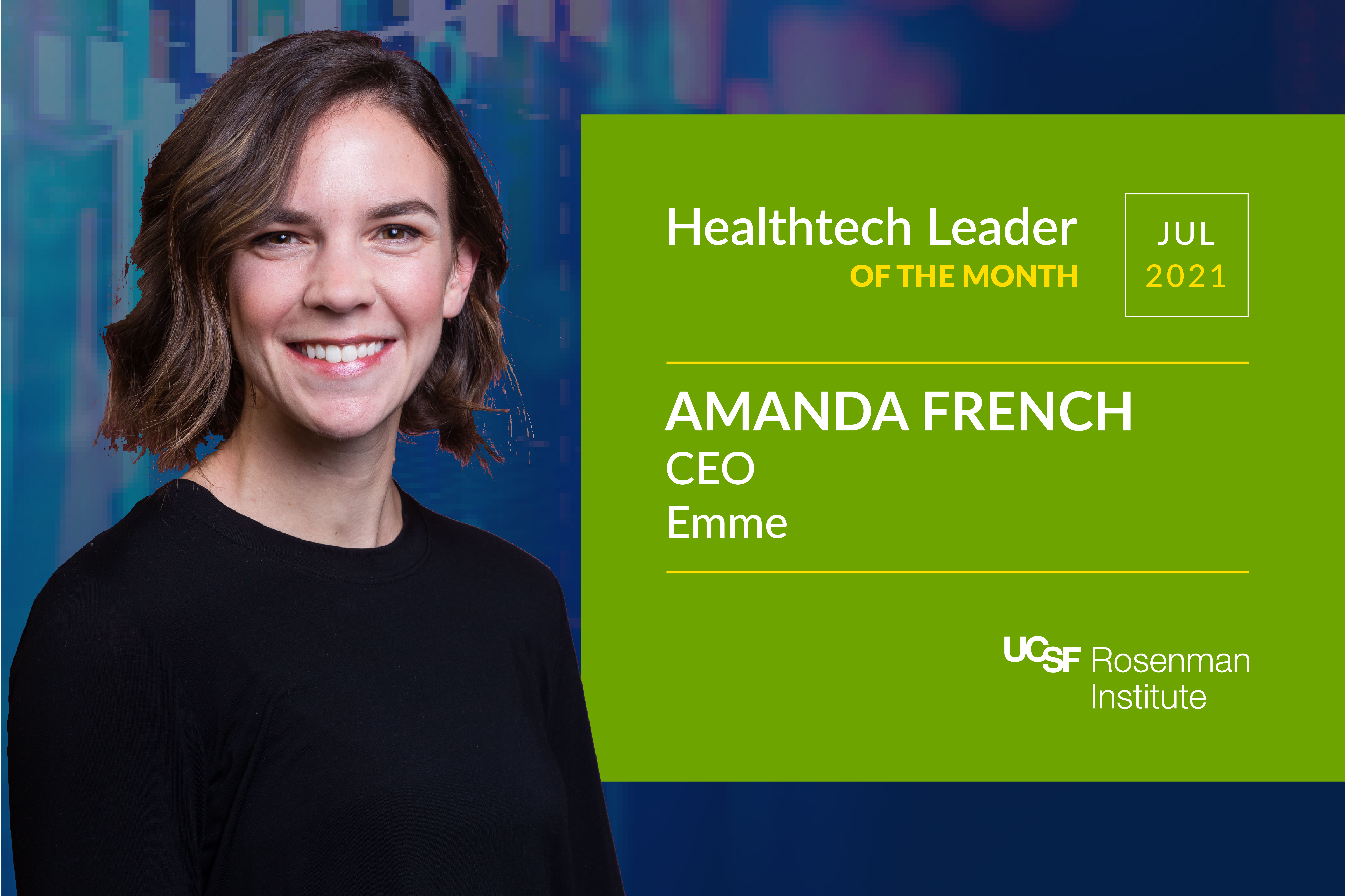 Healthtech Leader of the Month: Amanda French, CEO, Emme
